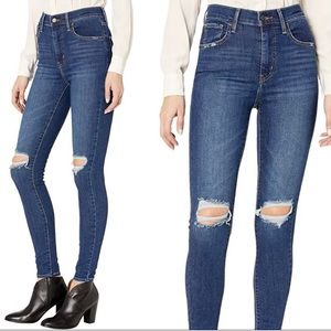 Levi's Mile High Super Skinny Ripped Knee Jeans